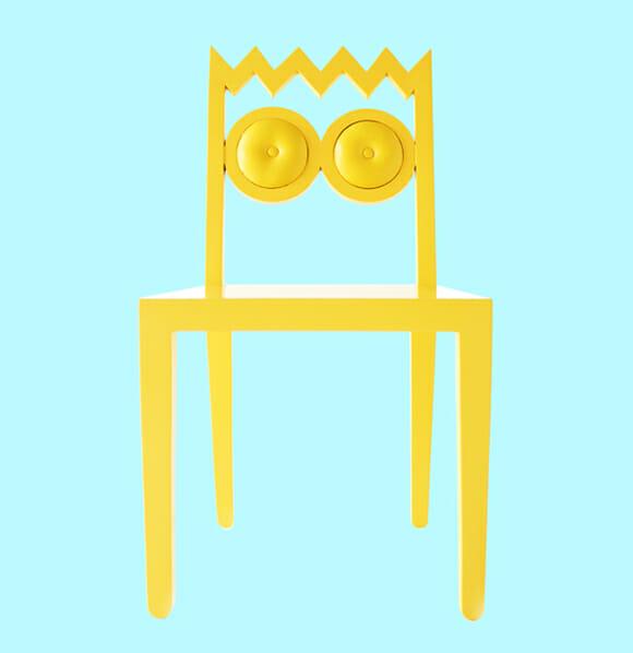 Cadeiras imitam personagens dos Simpsons