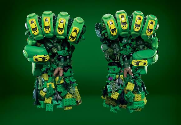 Campanha cria imagens incríveis inspiradas nos Vingadores usando objetos do dia a dia