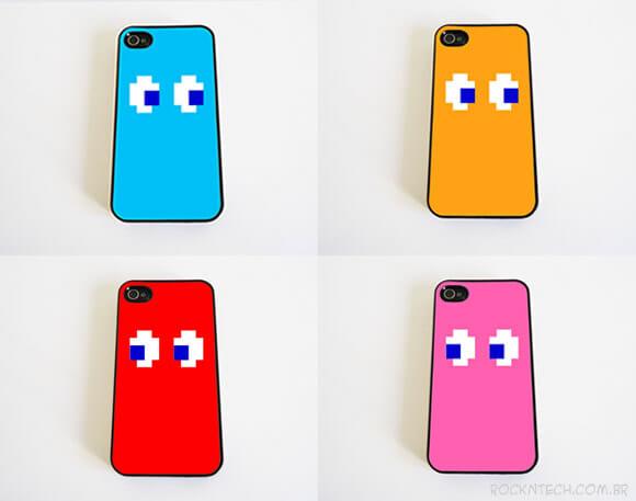 Capas para iPhone inspiradas nos fantasmas do Pac-Man