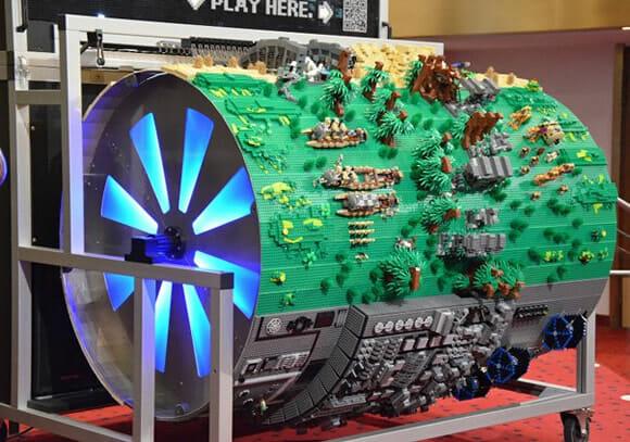 Cenário incrível de Star Wars feito de LEGO toca música tema da Saga em órgão (vídeo)