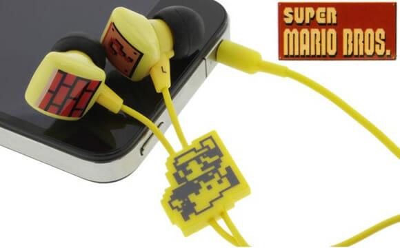 Fones de ouvido do Super Mario. Quem vai quereeer?