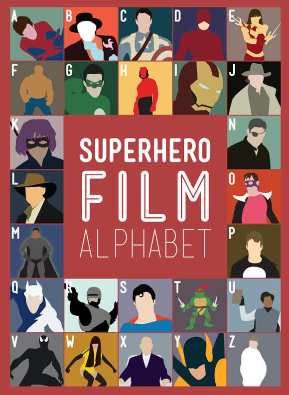 Alfabeto dos filmes de Super-Heróis