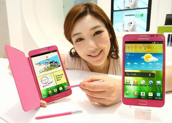 Novo Samsung Galaxy Note Rosa para mulheres que adoram gadgets!