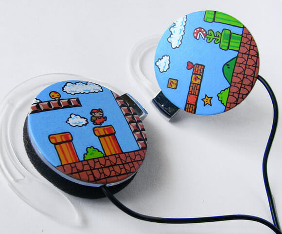 Curta suas músicas com o headphone do Super Mario