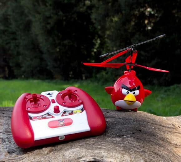 Helicóptero Angry Birds de controle remoto