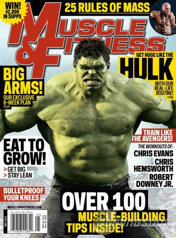 Incrível Hulk será garoto propaganda de importante revista de musculação americana