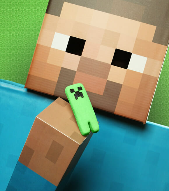Creepers do game Minecraft versão marshmallow. BUUUMMM!!!