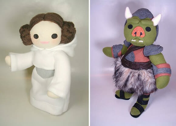 Pelúcias da Princesa Leia e Gamorrean Guard