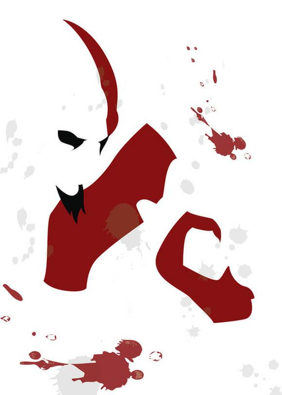 Personagens minimalistas de filmes e games