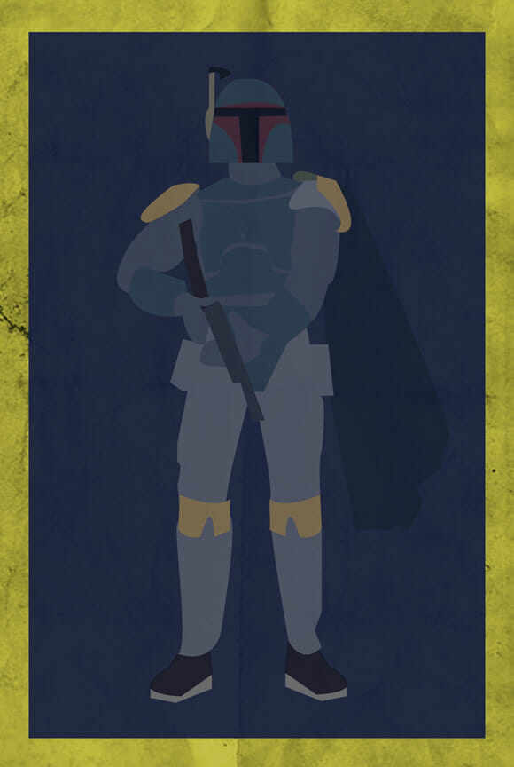 Personagens minimalistas de Super Mario, Star Wars, Mortal Kombat e Street Fighter