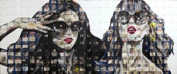 Artista usa disquetes reciclados para criar quadros incríveis