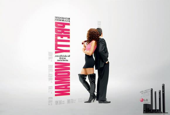 Posters de filmes famosos vistos de outro ângulo