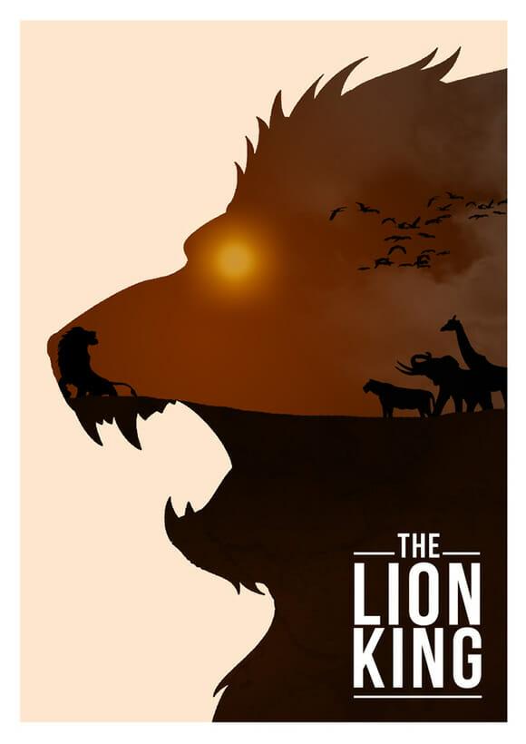 10 posters de filmes da Disney reimaginados de um jeito criativo