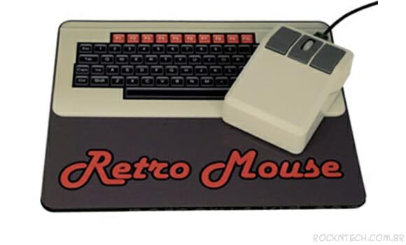 Kit de mouse e mousepad retrô para relembrar os velhos tempos