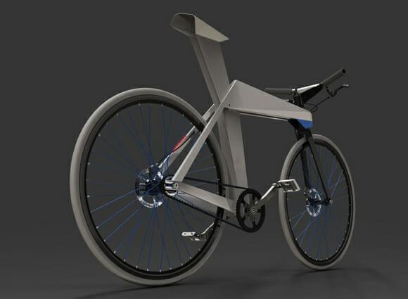 Bicicleta Origami é como um origami grande com rodas, mas não pode ser dobrada