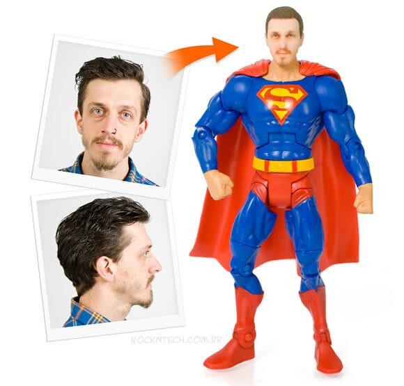 Agora você pode ter o seu super-herói favorito com a sua cara!