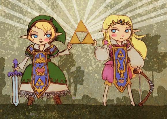 Vestidos Zelda e Link