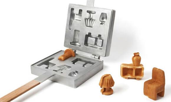Mini Waffles em forma de móveis: Quem vai quereeer?
