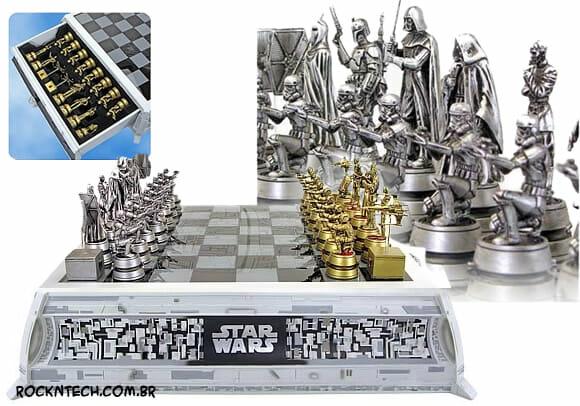 Kit de Xadrez oficial Star Wars - Que a Grana esteja com você!