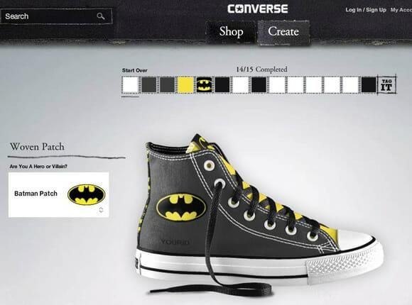 Novos tênis All Stars do Batman podem ser personalizados por nós mesmos!