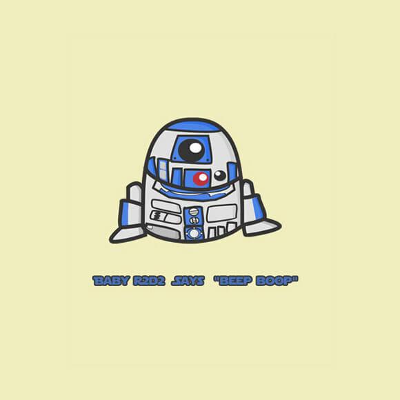 Personagens de Star Wars bebês