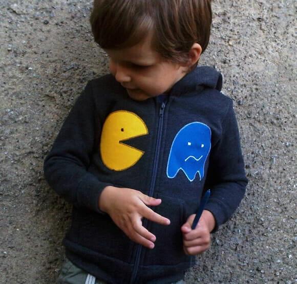 Blusa do Pac-Man para os pequenos geeks