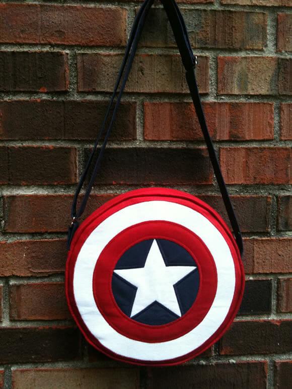Bolsa do escudo do Capitão América!
