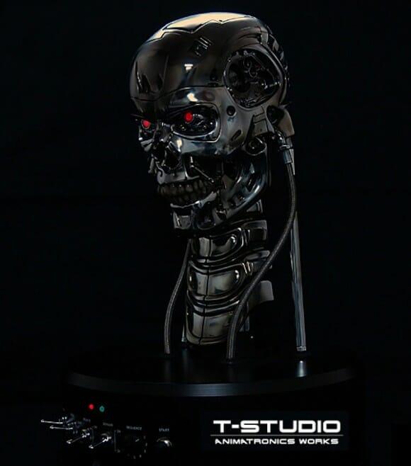 Busto robótico do T-800 do filme Exterminador do Futuro é assustador! (vídeo)