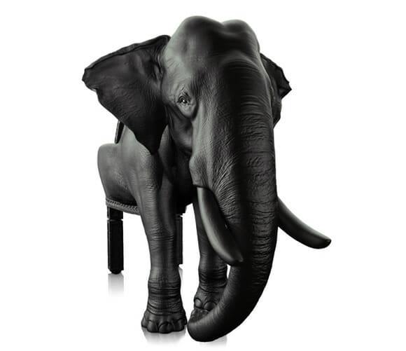 Decoração inusitada com a Cadeira Elefante