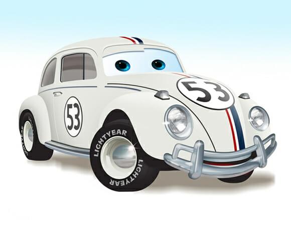Carros famosos estilo Carros da Pixar