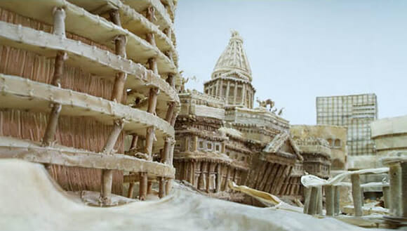 Cidades incríveis construídas a partir de livros reciclados