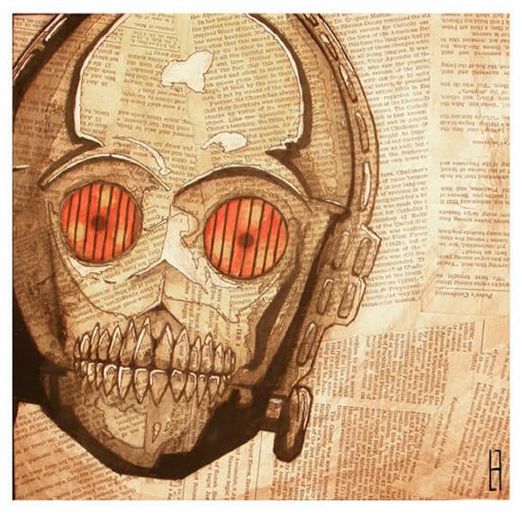Dead Star Wars - Esqueletos de personagens da saga Star Wars