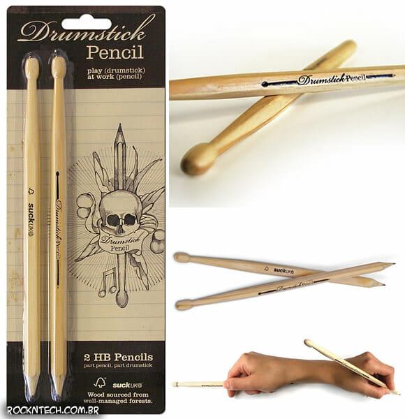 Kit de lápis em forma de baquetas de bateria para provas Hard Rock