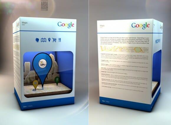 """Como seria se os """"produtos"""" do Google viessem em embalagens"""