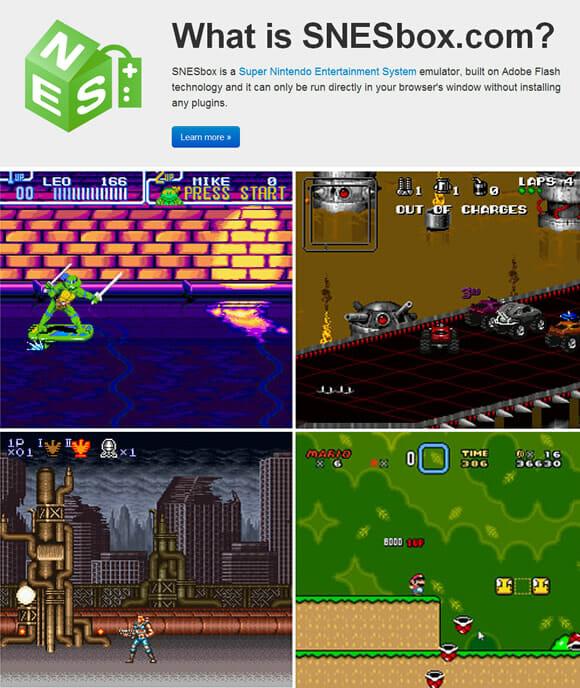 SNESbox.com - Jogue jogos do Super Nintendo diretamente do navegador!