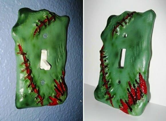 Decoração bizarra: Espelhos de interruptores de luz Frankenstein