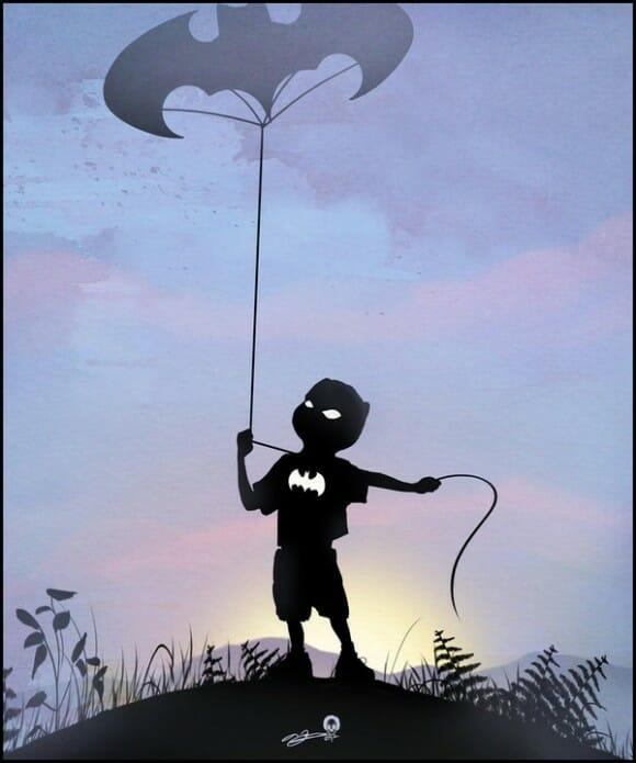 Super-heróis quando eram crianças