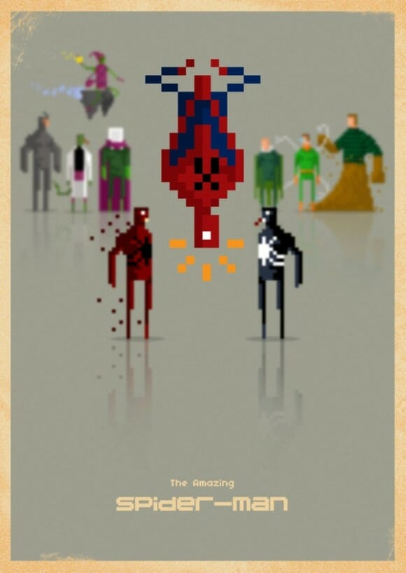 Voltando no tempo: Heróis da Marvel em 8-bits