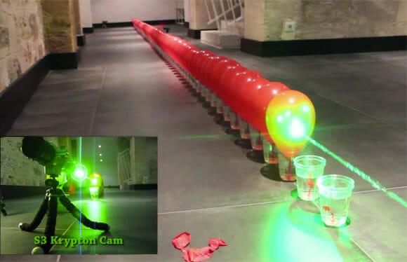 Laser de alta potência vs. Bexigas - Novo recorde mundial é atingido na França (vídeo)