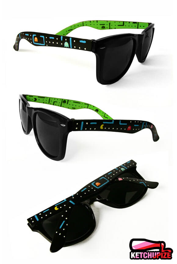 Óculos de sol do Pac-Man