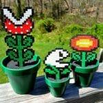Decore seu jardim com plantas do game Super Mario em estilo 16-bits. Awesome!!!