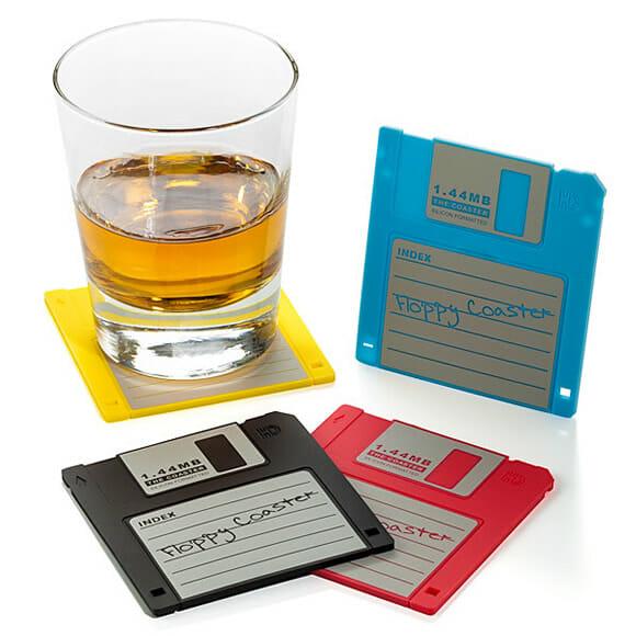 Porta-copos disquetes