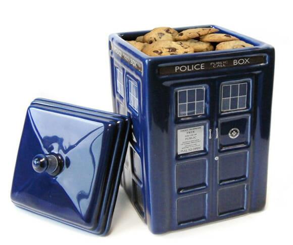 Pote de biscoitos da TARDIS de Doctor Who