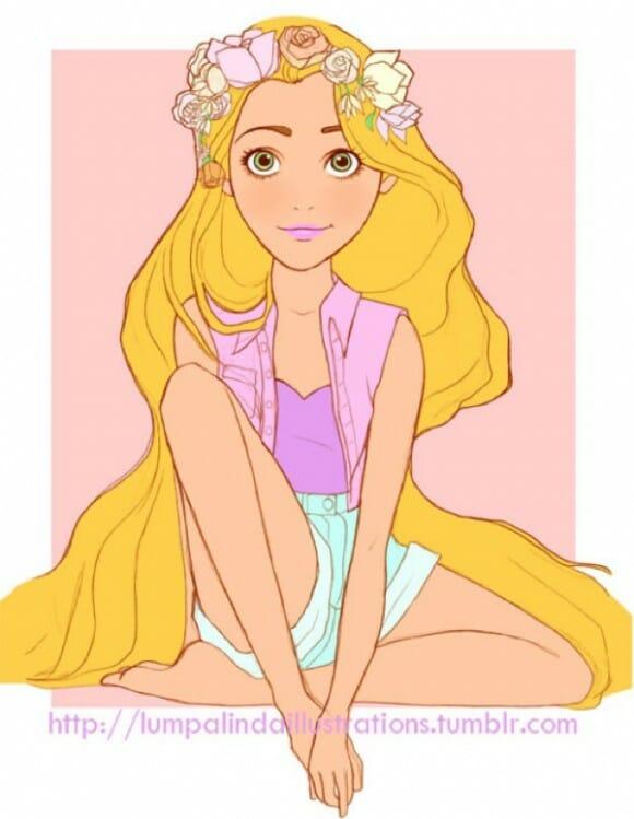 Princesas da Disney estilo Hippie