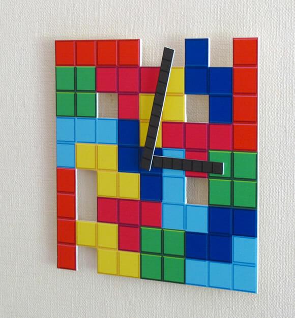 Relógio Tetris para decorar a casa dos geeks