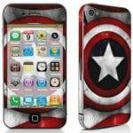 Skin para iPhone do Capitão América - Até quem não curte adesivos vai querer ter um!