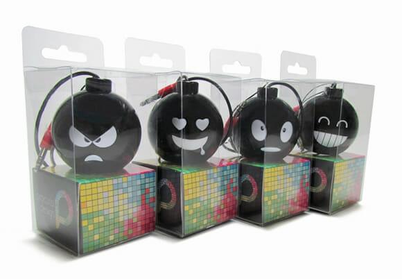 Speaker BOMB para smartphones, tablets e MP3 players - Upgrade no som em forma de BUUUM!