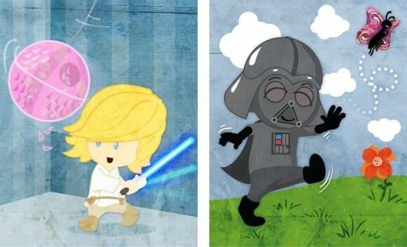 Personagens de Star Wars quando eram crianças