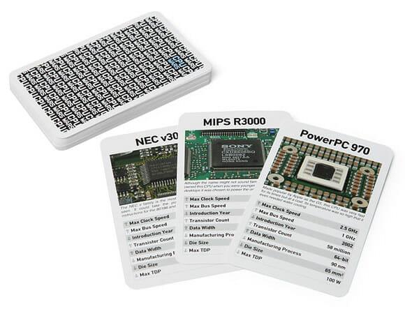 Nerdeliciouss! Agora existe uma versão de Super Trunfo com Processadores de computadores!