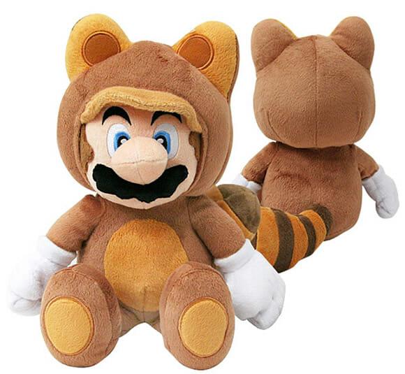 Tanooki Mario de pelúcia é o brinquedo perfeito para fãs de Super Mario
